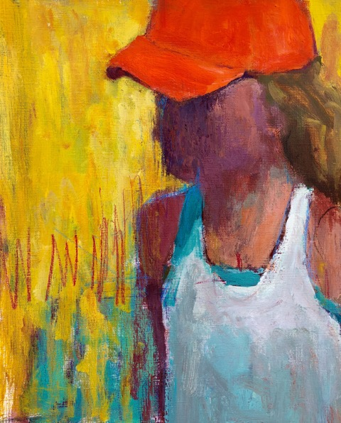 Nancy Colella - Orange Hat 14x11