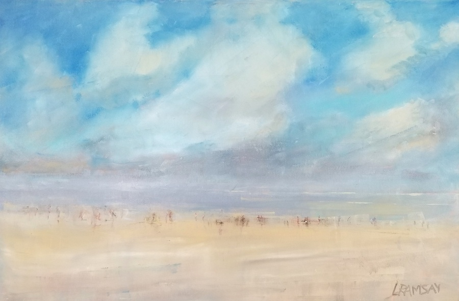 Beach Days 24x36