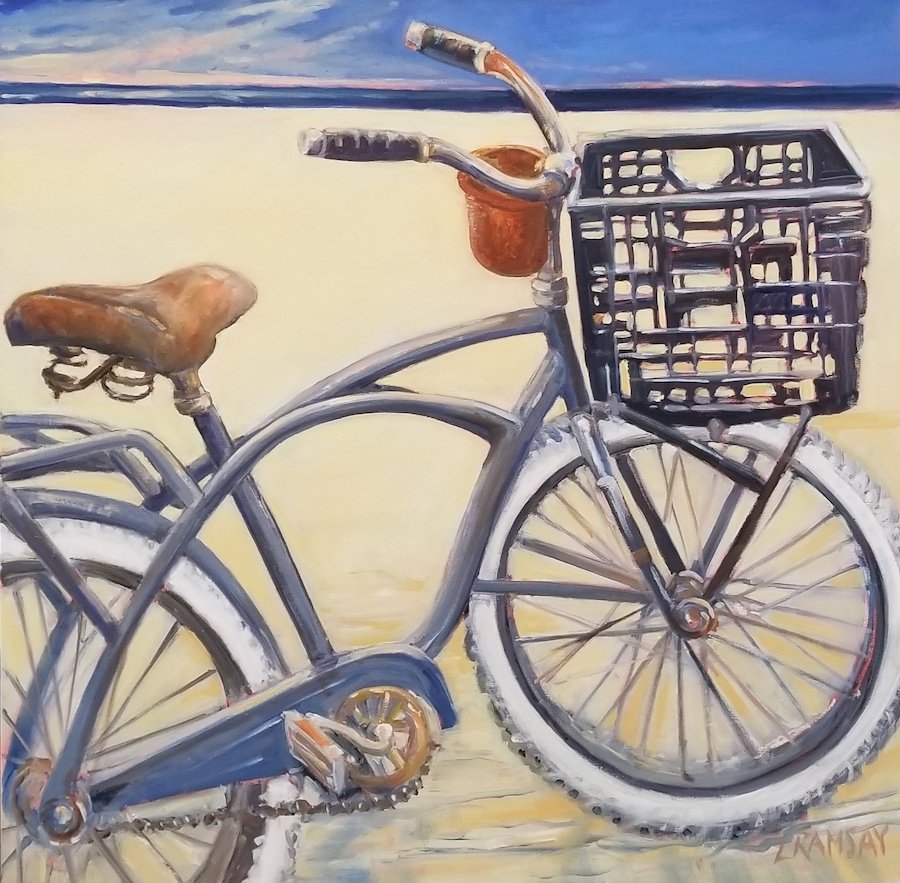 Black & Gray Bike 36x36