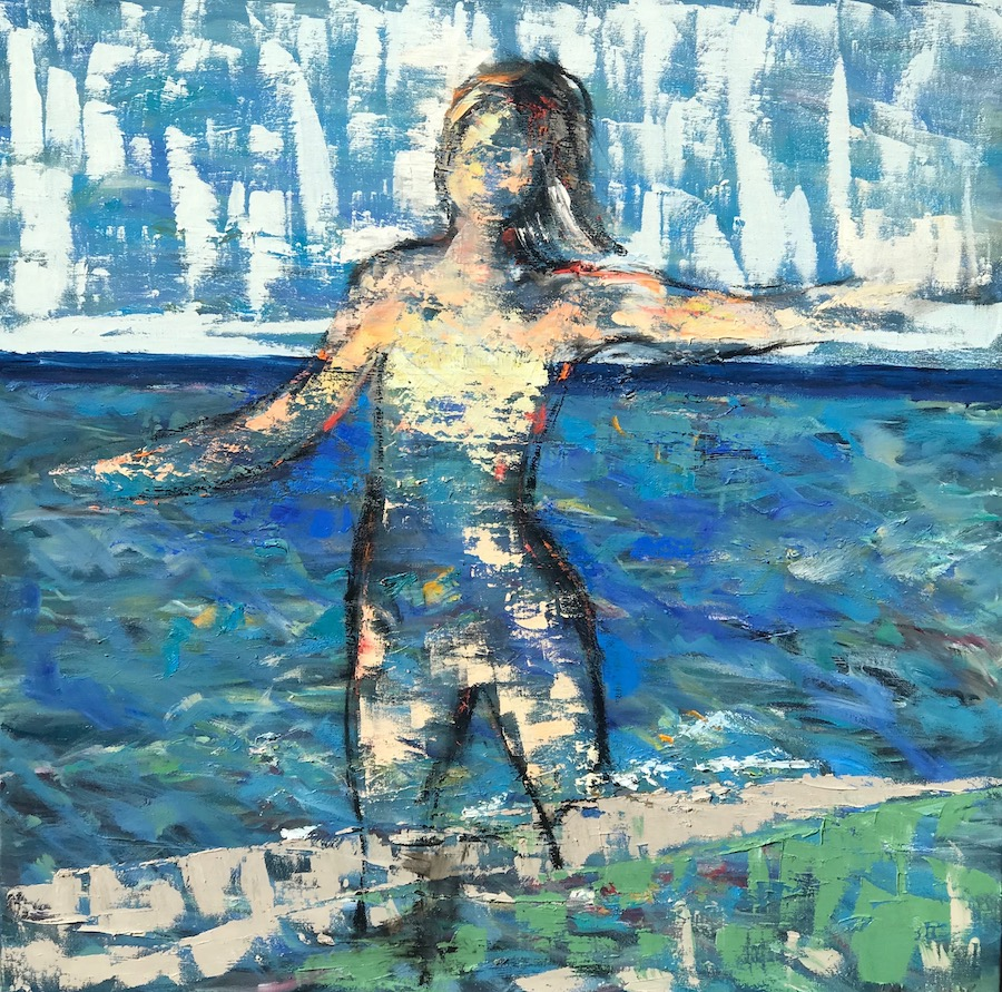 Lady of the Shores 36x36 (sold)