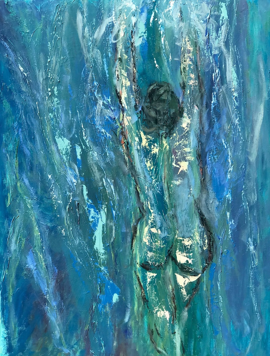 Through the Waters 40x30