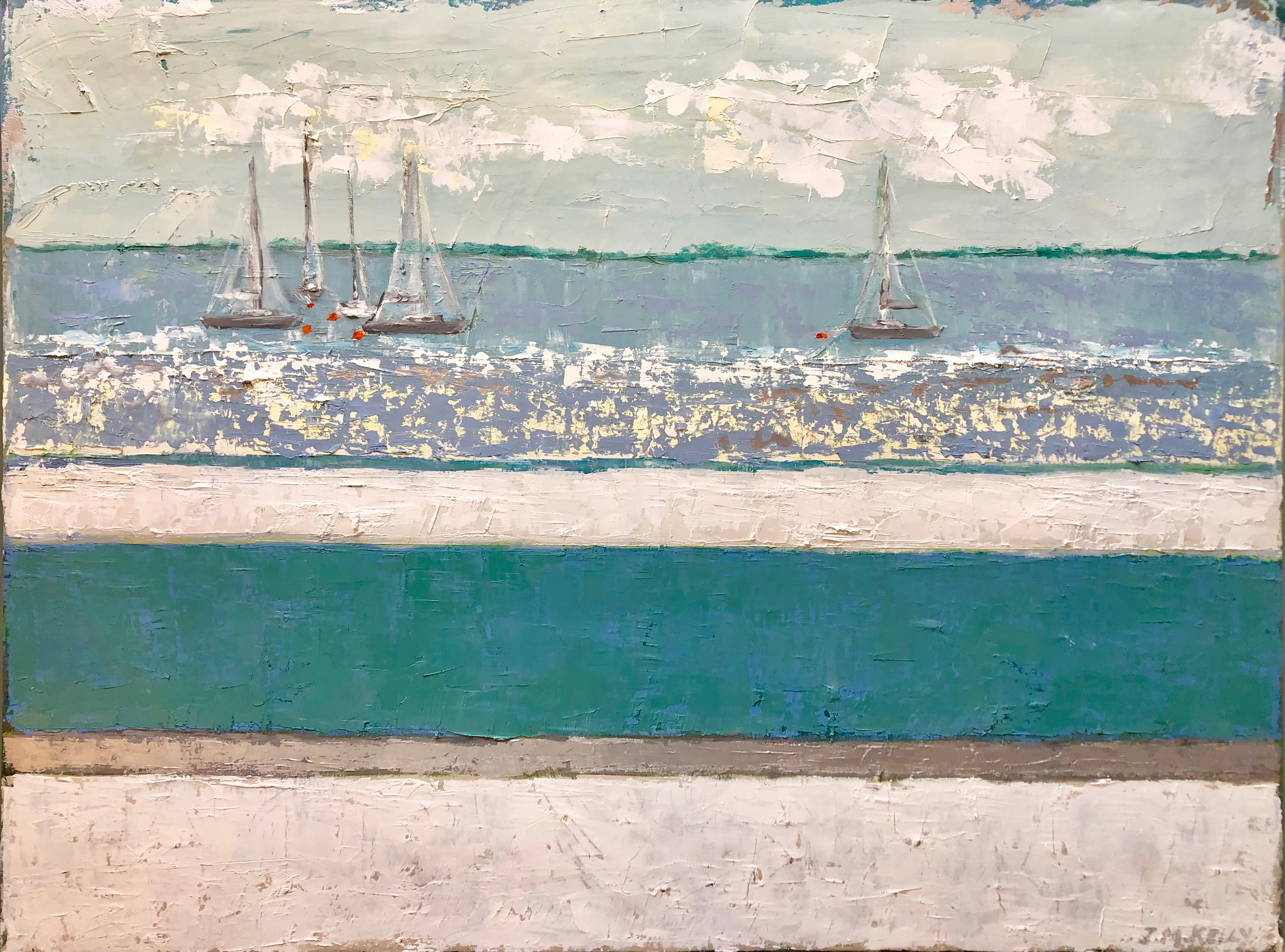 Striped Boats 30x40