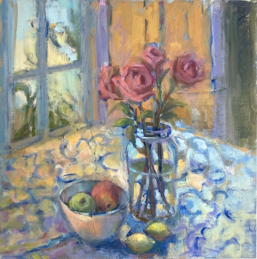 PINK ROSES 30x30
