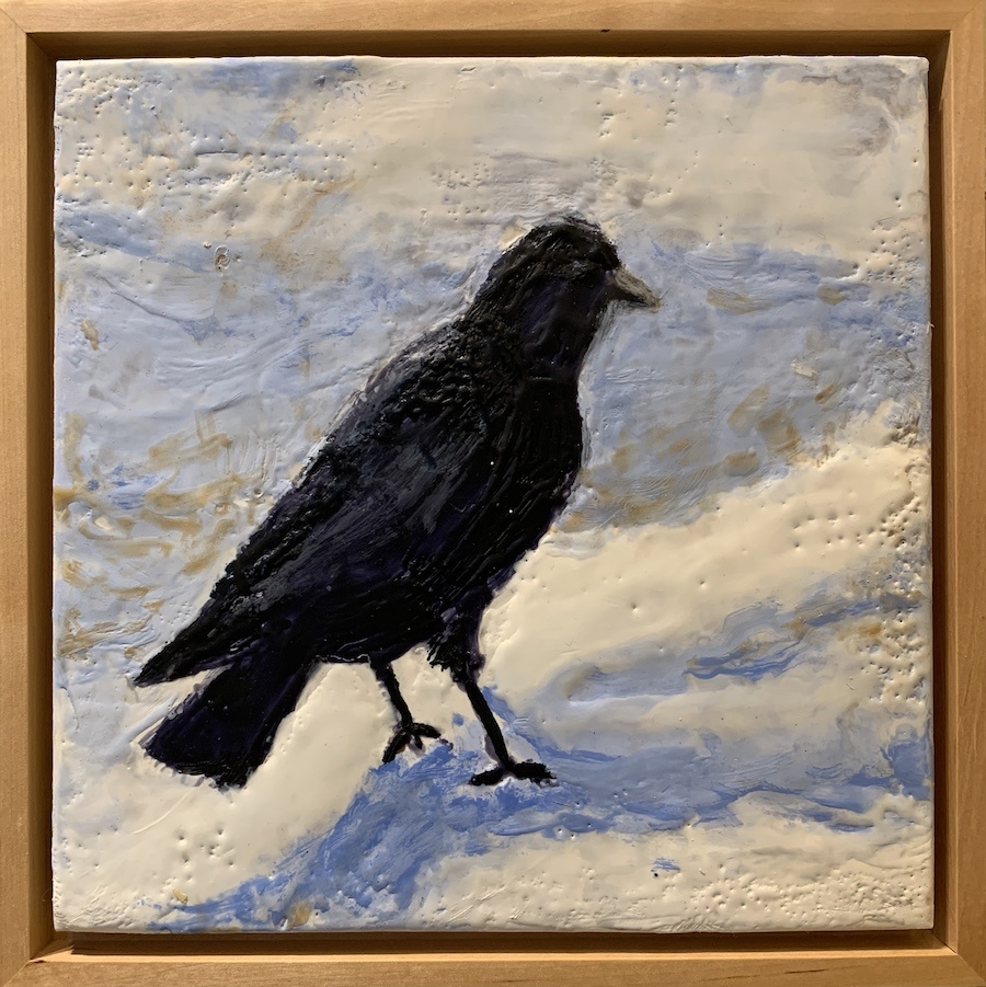 Crow Contemplation 8x8