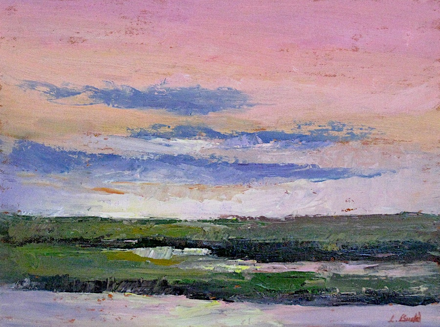 Sunset Marsh 9x12