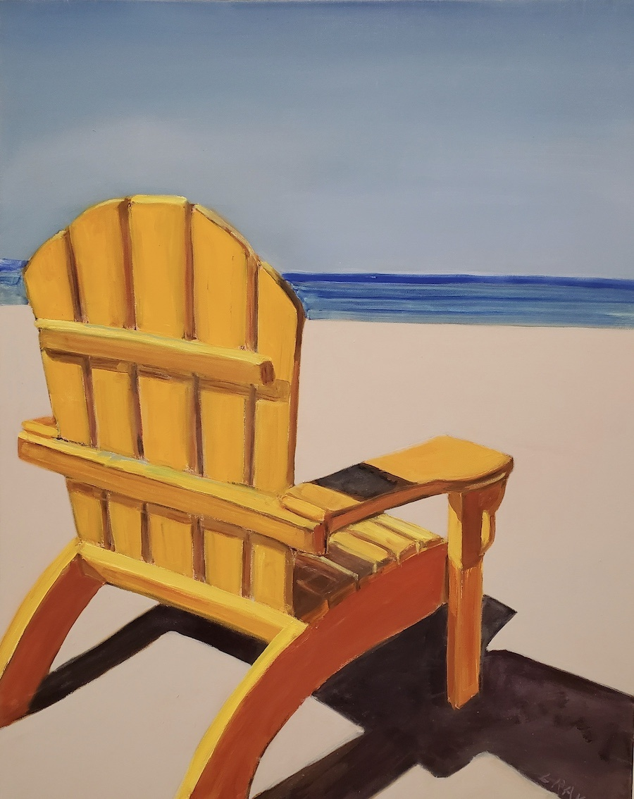 Yellow Adirondack Chair 30x24
