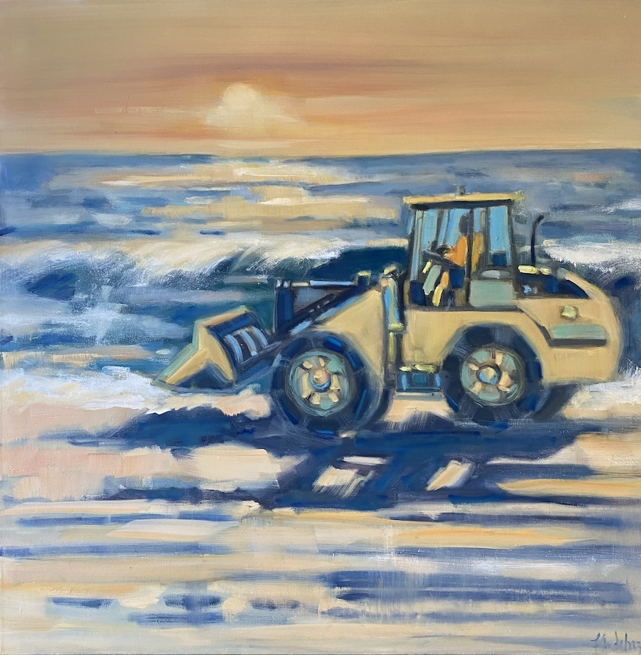 Morning Beach Groomer 36x36