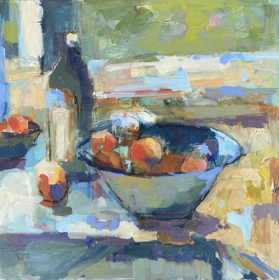 Olive Oil and Bowl 30x30