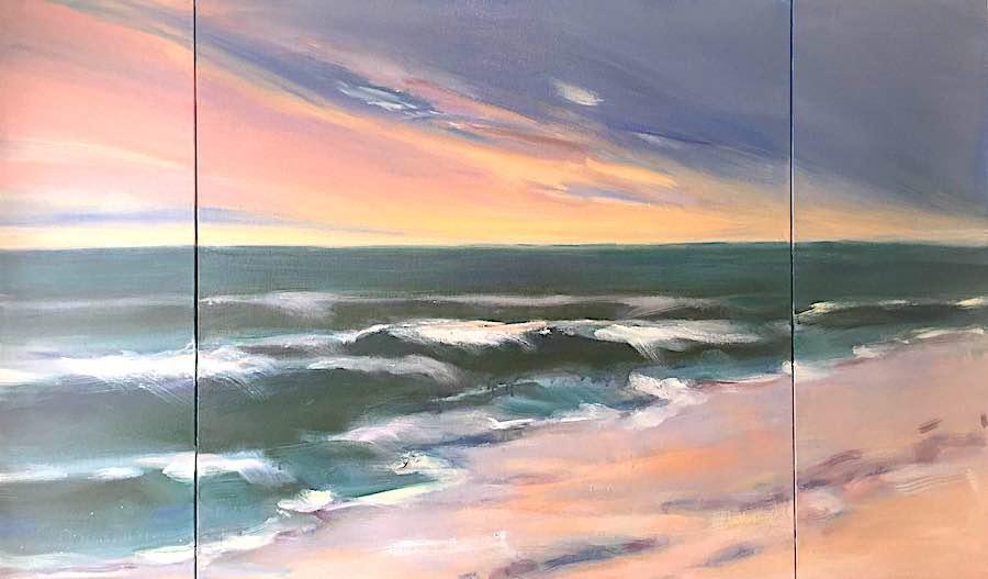 Summer Sunrise Triptych 36x60
