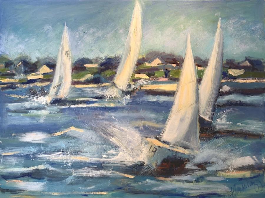 Racing Sails 30x40